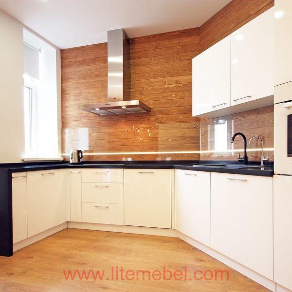 Кухня с фасадами Акрил, Проект №1417