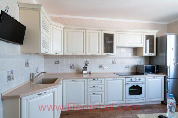 """Кухня с фасадами """"Черешня"""", Проект №4258"""