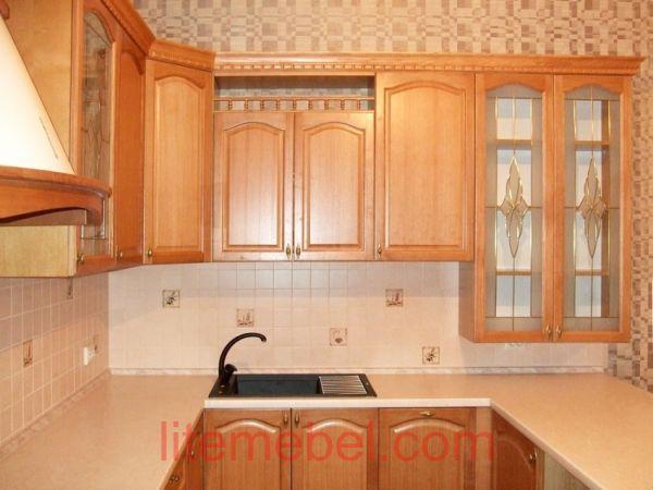 Кухня с фасадом Массив Дуба, Проект № 4102