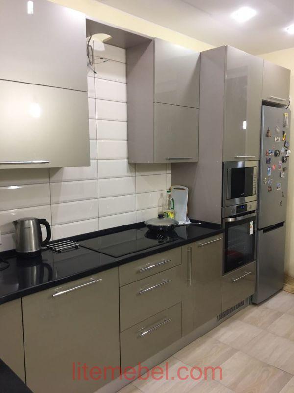 Кухня с фасадами Акрил, Проект № 1351