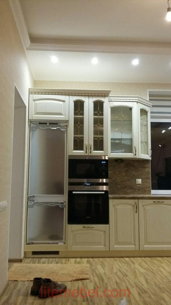 Кухня с фасадом Массив Ясень, Проект № 4198