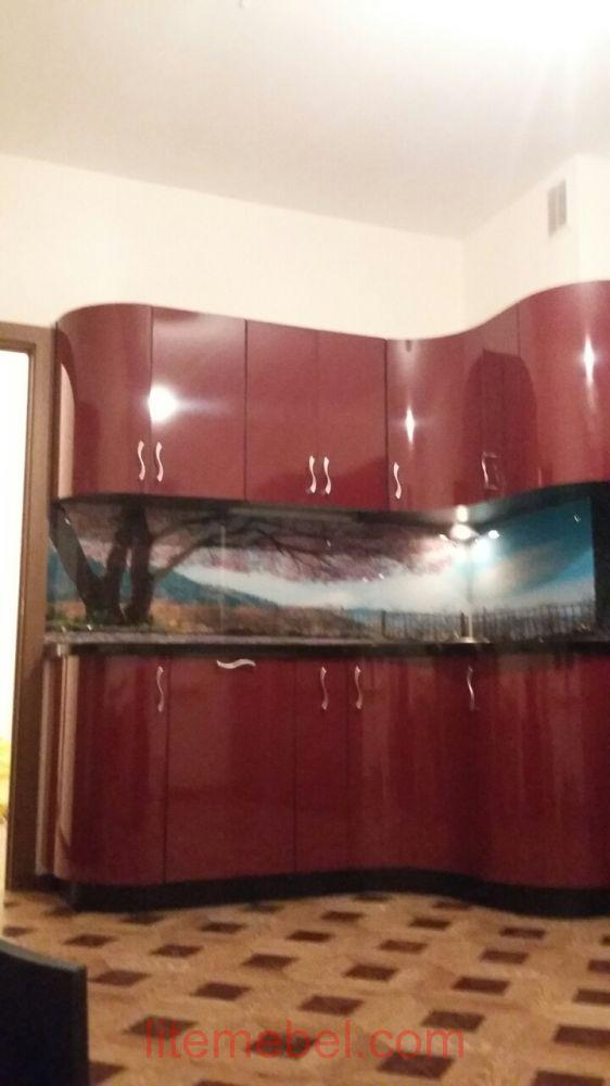Кухня с фасадами Пластик, Проект № 3171