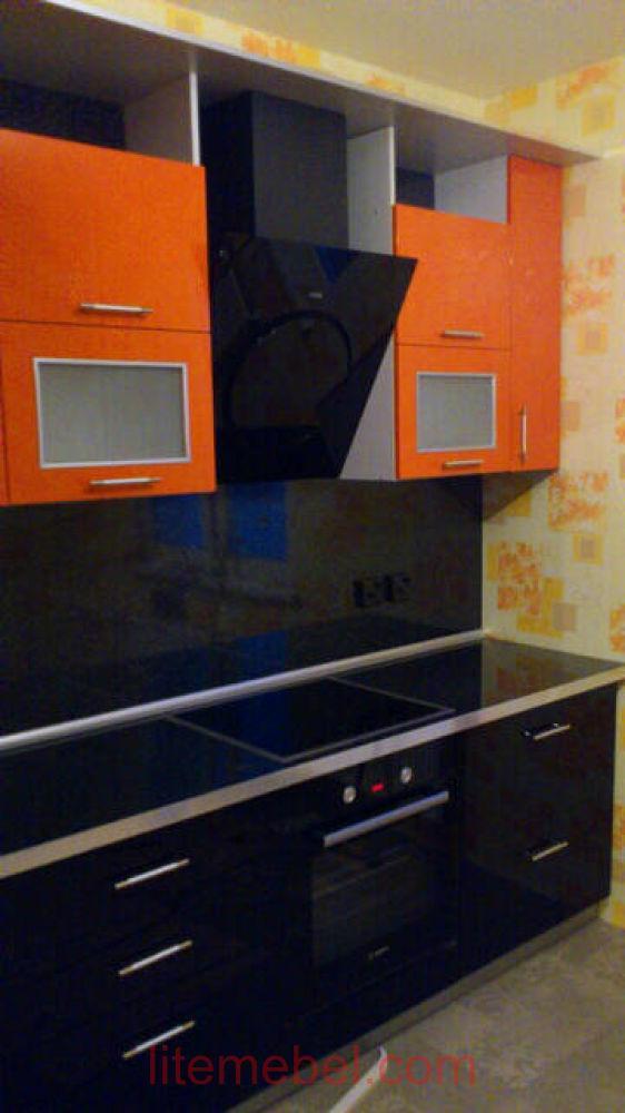 Кухня с фасадами Пластик, Проект № 3348