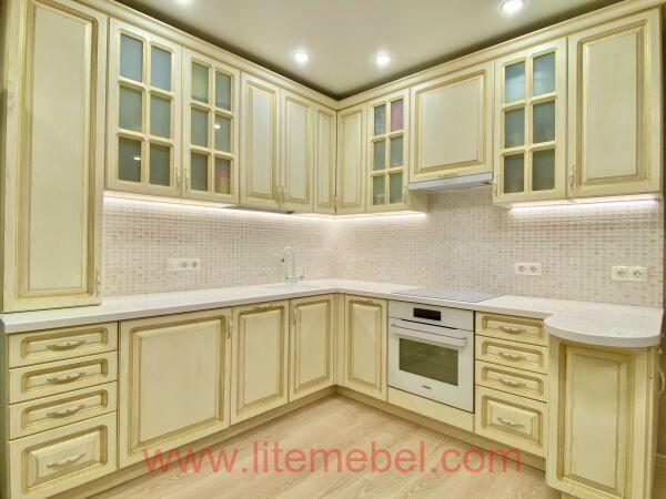 Кухня с фасадом МДФ-ПВХ, Проект № 5020