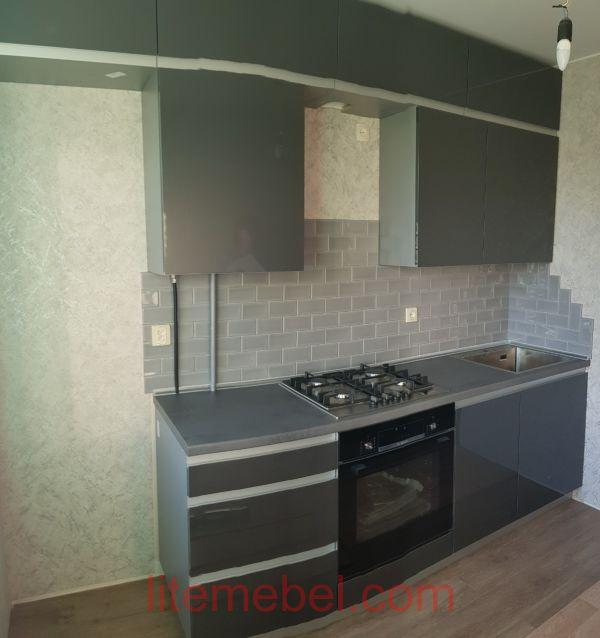 Кухня с фасадами Акрил, Проект № 1709