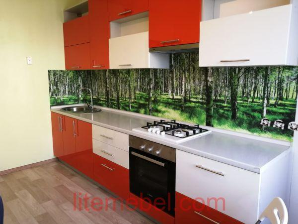 Кухня с фасадами Пластик, Проект №3686