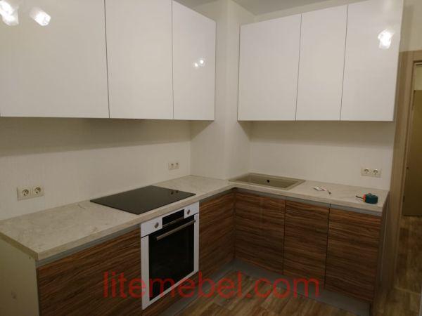 Кухня с фасадасми Пост-АВ,Проект № 1400