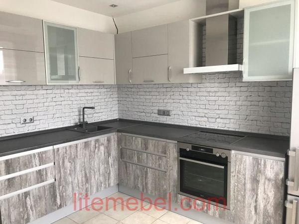 Кухня с фасадами Акрил/Синкрон, Проект № 3634