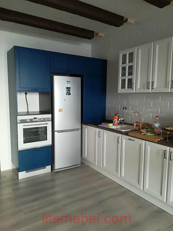 Кухня с фасадом Массив Ясеня, Проект № 4676