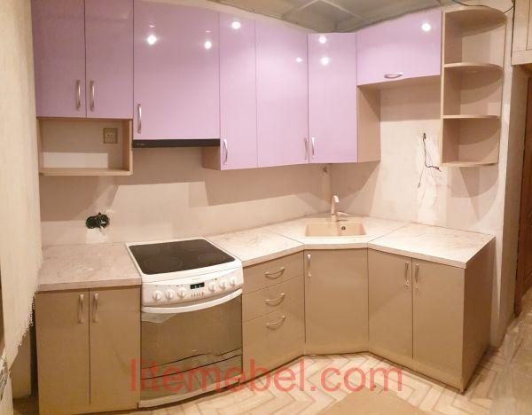 Кухня с фасадом Пост-5, Проект № 3644
