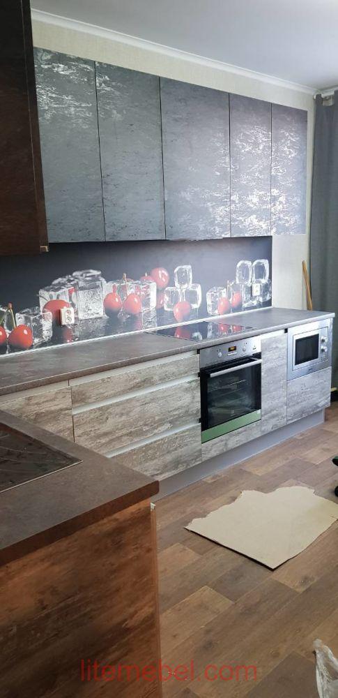 Кухня с фасадами Пост-Синкрон, Проект № 3615