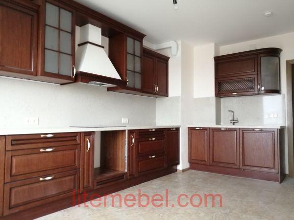 Кухня с фасадом Массив Дуба, Проект № 4654