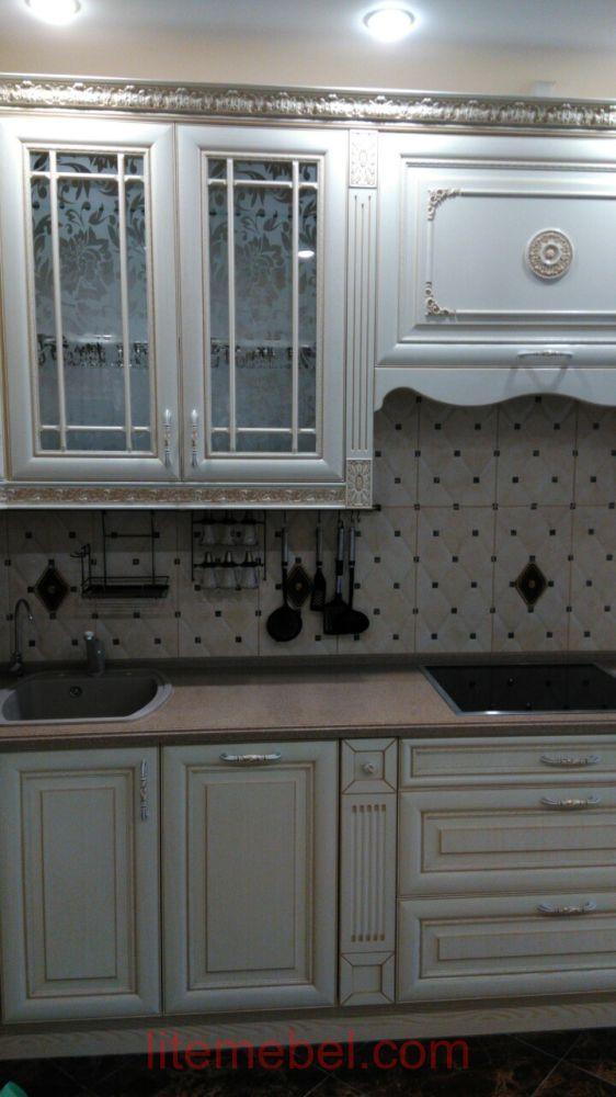 Кухня с фасадом Массив Ясеня, Проект № 4640