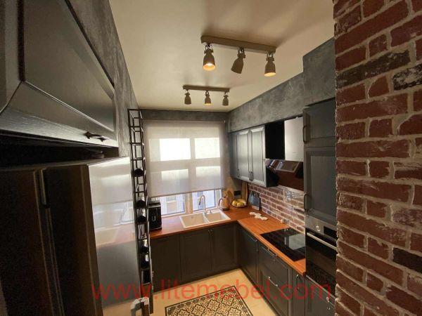 Кухня с фасадом Массив Ясеня, Проект №4178