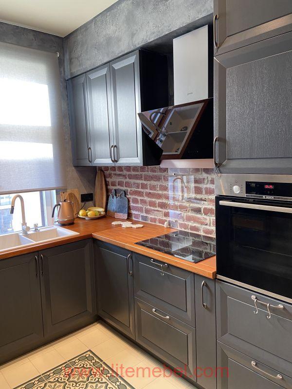 Кухня с фасадом Массив Ясеня, Проект № 4667