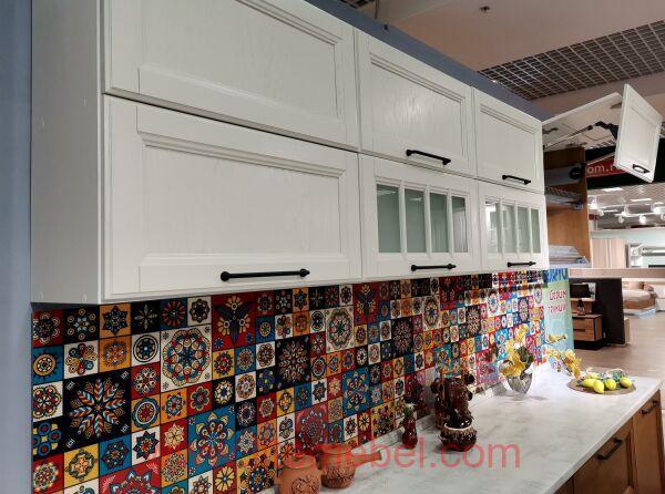 Кухня с фасадами Массив Дуба. проект №4198