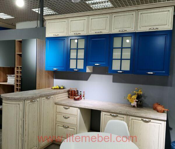 Кухня с фасадом МДФ-ПВХ, Проект № 5094