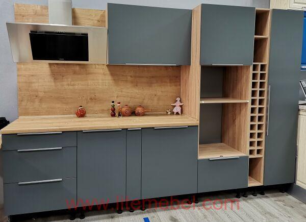 Кухня с фасадами Пластик Феникс (Fenix matt), Проект №3359