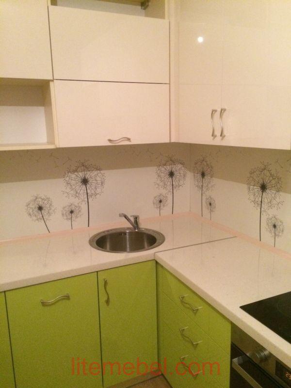 Кухня с фасадами Акрил/Пластик, Проект № 1235