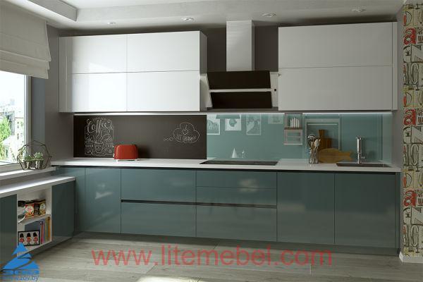 Кухня Интегро с фасадами Акрил, Проект № 1025