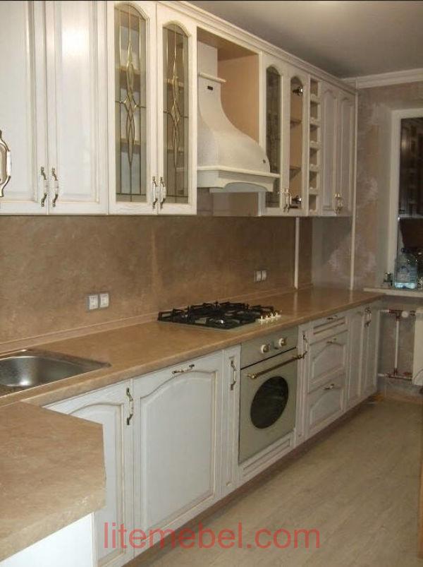 Кухня с фасадом Массив Дуба, Проект № 4110