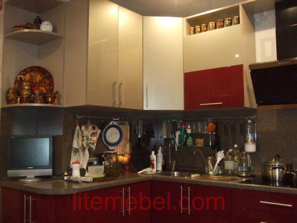 Кухня с фасадами Акрил, Проект № 1131