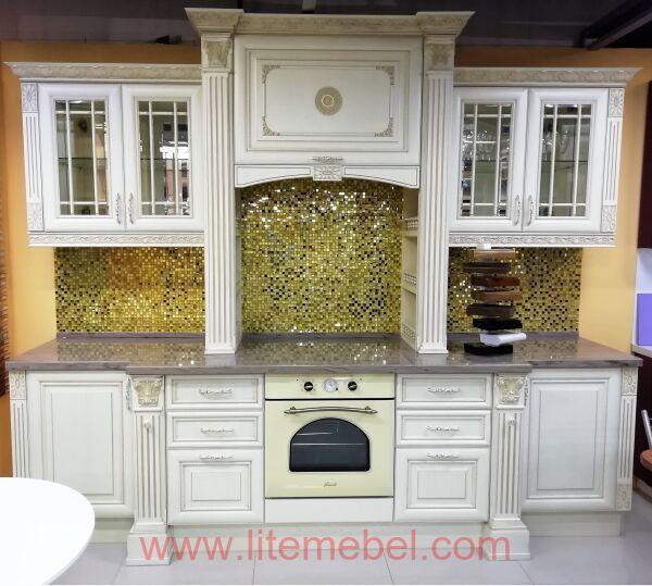 Кухня с фасадами массив Ясеня, Проект №4277