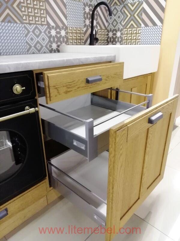 """Кухня с фасадами массив """"Лугано"""", Проект №4001"""