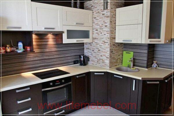 Кухня с фасадом Техно, Проект № 5143