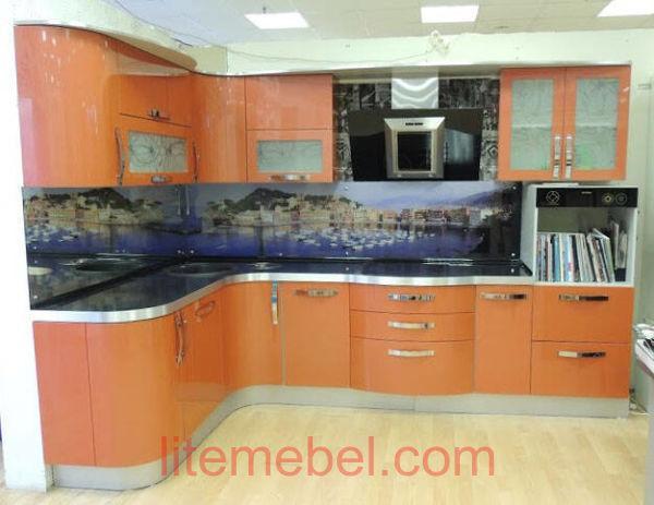 Кухня крашенными с фасадами Система, Проект № 2602