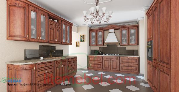 Кухня с фасадом МДФ-ПВХ