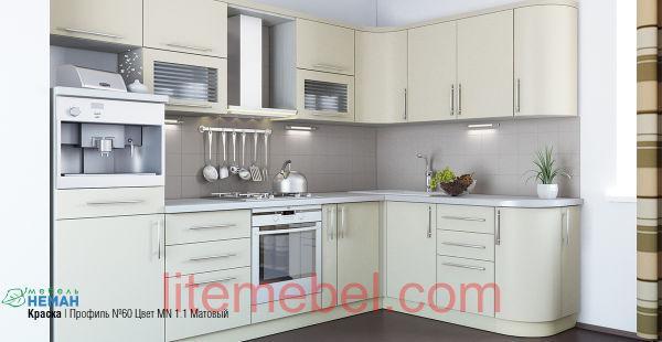 Кухня с фасадом Эмаль матовая Профиль 60
