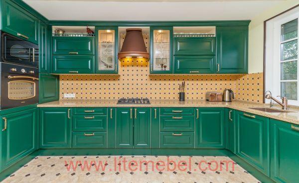 Кухня крашенными с фасадами Париж, Проект № 2009
