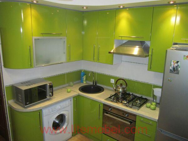 Кухня с пластиковыми фасадами, Проект № 3256