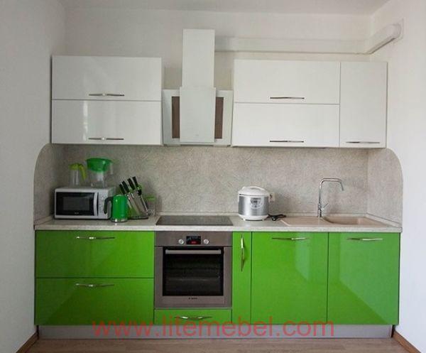 Кухня с пластиковыми фасадами, Проект № 3050
