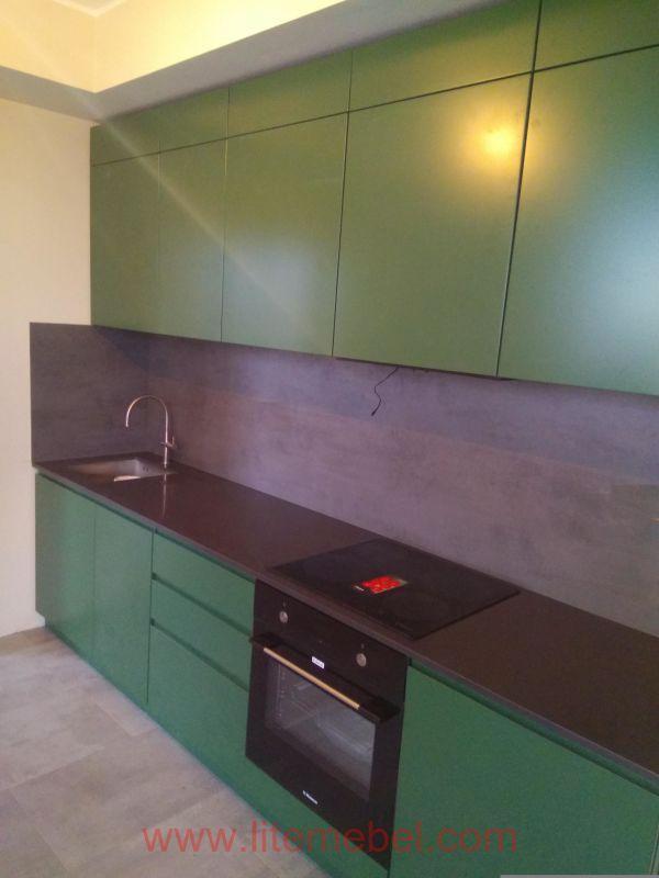 Кухня крашенными с фасадами Система СофтТач КВ, Проект № 2341