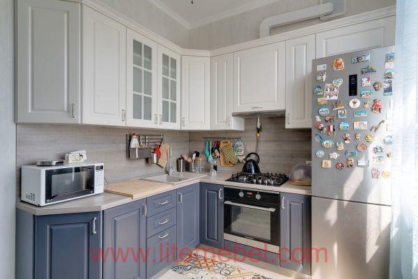 Кухня крашенными с фасадами Париж, Проект № 2275