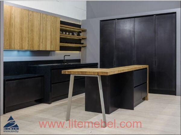 Кухня с комбинированными фасадами Интегро