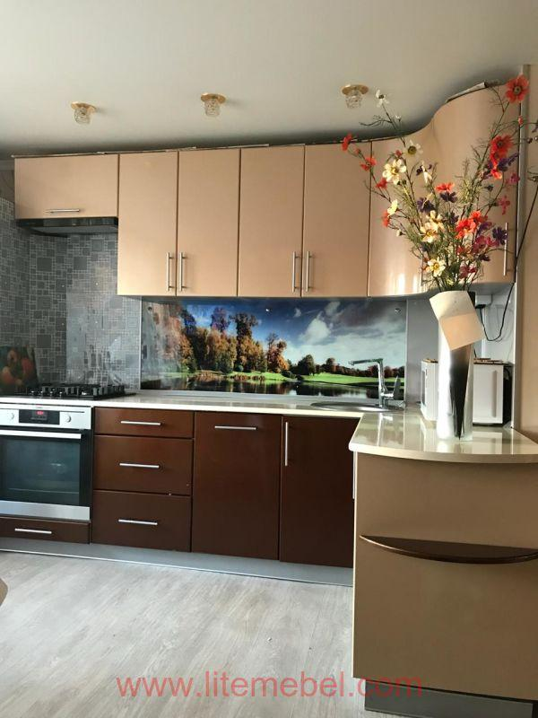 Кухня крашенными с фасадами Система, Проект № 2957