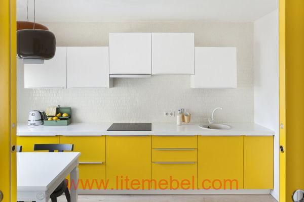Кухня с крашенными фасадами Профиль №60