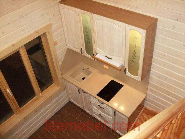 Кухня с фасадом Массив Сосны, Проект № 4557