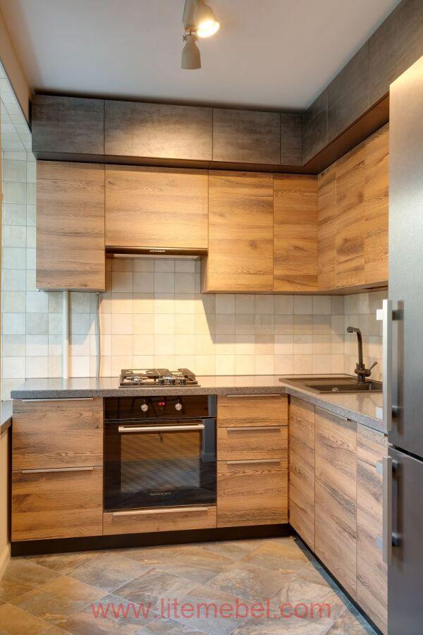 Кухня с фасадами Тимбер, Проект № 3523