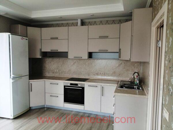 Кухня с фасадами Акрил, Проект №1741