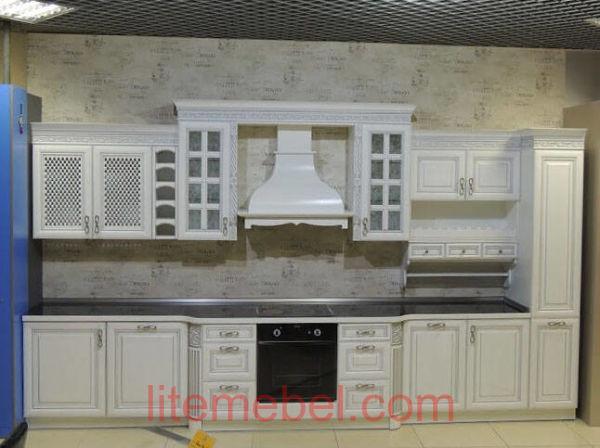 Кухня с фасадом Массив Ясеня, Проект № 4490